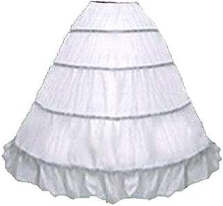 SACAS Adjustable 4 Bone Hoop Skirt Super Full Civil War Skirt slip