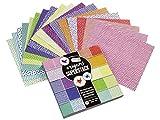 Craft Sensations Juego de manualidades de papel para origami, 15 x 15 cm, 180 hojas de origami, diseños únicos, incluye instrucciones completas de origami con numerosas formas de origami