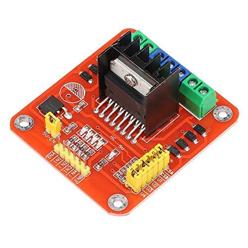 Bewinner Módulo de Controlador, L298 Módulo de Placa de Controlador de Motor/Motor Paso a Paso/Robot para accionamiento Motor de 2 Canales de 3-30 V CC, Controlador de Controlador de Motor Paso