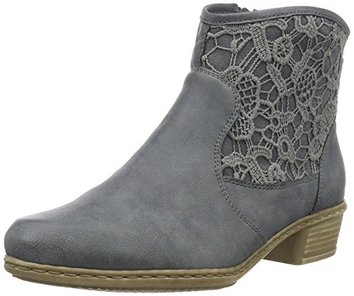 Rieker Damen Y0735 Kalt gefüttert Classics Kurzschaft Stiefel und Stiefeletten, Blau (jeans/denim/14), 36 EU