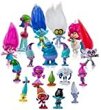 18 pcs Trolls Toys, Troll Dolls Party Supplies, Trolls Cake Topper, Trolls Figures, Toys size: 1.2 - 2.8 in