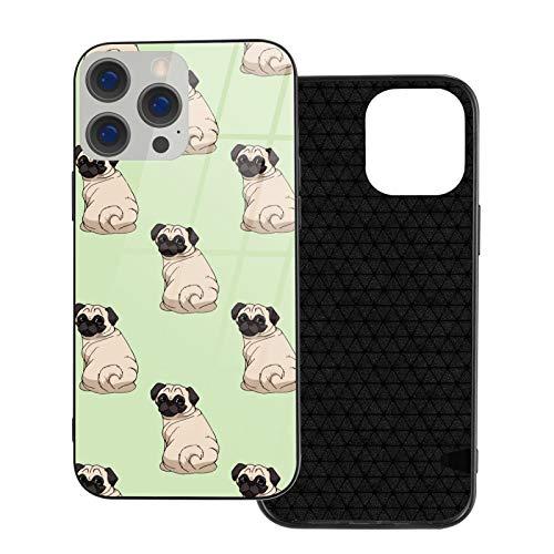 DOWNN Funda de cristal para iPhone 12 3D, diseño de cachorros divertidos, flexible, suave, protección de poliuretano termoplástico para iPhone 12/12 Pro/12 Mini/12 Pro Max