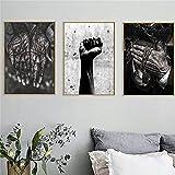 LizaCheng Afrikanische Schwarzweiß-wandkunst Hände Und