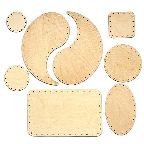 Zita's Creative Korbboden Set gemischt, groß für Peddigrohr 2mm und 3mm - Flechten, Korbflechten, Schilf Set, Peddigrohr, Flechtmaterial, Flechtset, Rattan