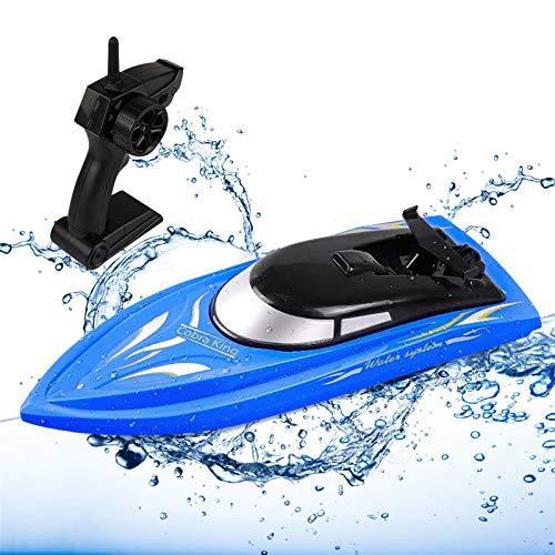 SGOTA RC Boot Fernbedienungsboote für Kinder und Erwachsene Hochgeschwindigkeits-RC-Bootsrennen für Pool / See / Teich 2-in-1-Fernbedienungs-Alligatorkopfboot 2,4-GHz-Fernbedienungsboot