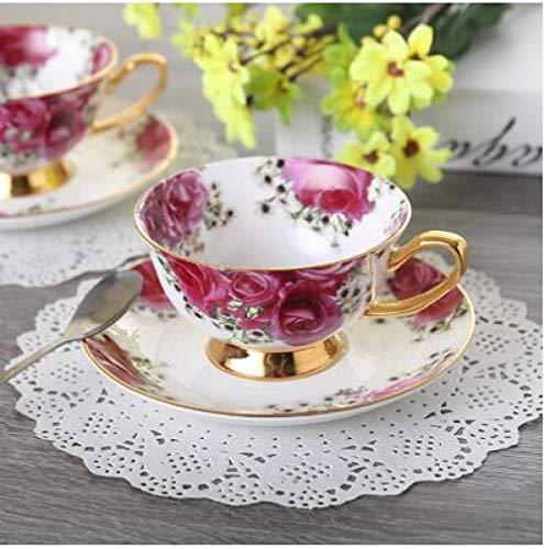 HTBYTXZ Europa Camellia Bone Koffie Set Britse Porselein Keramische Pot Creamer Suikerkom Thee nespresso thee Cup