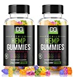 Hemp Gummies Supplements for Stress Relief Aid Mood Inflammation Focus Calm Extra Strength Vitamin Chewable for Adults, Best Relaxing Pure Natural Hemp Oil Gummy Bear Edibles Candy (1500mg | 2 Pack)