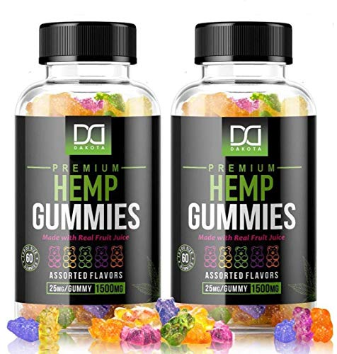 Hemp Oil Gummies for Stress Relief Sleep Mood Inflammation Focus Calm Extra Strength Chewable for Adults, Best Relaxing Restful Pure Natural Premium Hemp Gummy Bear Edibles Candy (1500mg | 2 Pack)