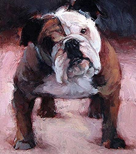 NA Jigsaw Puzzle for Adults 1000 Pieces - English Bulldog - DIY Wooden Set Ideal Gift,Perfect Home Decoration 75X50Cm
