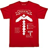 JINX Minecraft Pickaxe Diagram Boys  Tee Shirt, Red, X-Large