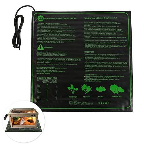 Manta Termica Plantas de Invernadero,45 W Impermeable Manta Calefactora de Germinación Semilla Almohadilla Calentadora de Plantas y Reptiles para Jardín Hidropónico Cultivo