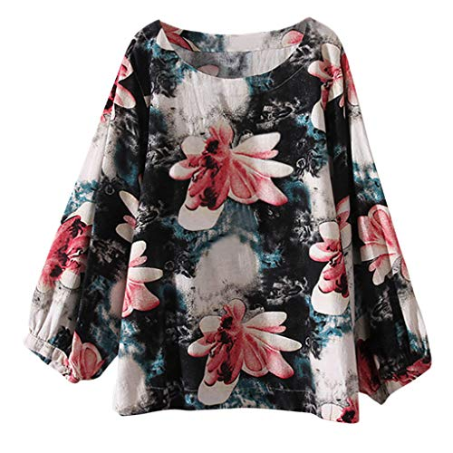 Luckycat Mujeres Casual Tallas Grandes Bohemia Camiseta de Manga Larga Elegante Cuello V T-Shirt Camisa Pañuelo Dobladillo Túnica Tops Ropa De Mujer En Oferta Otoño Abrigos De Mujer