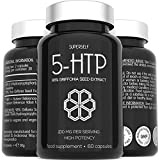 5HTP High Strength 200mg - 5 HTP Supplement 60 Capsules - 200mg 5-HTP Serving from Pure & Undiluted 1:1 Griffonia Seed Extract - Vegan