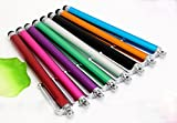 (5 Pack) Stylus PENS Premium Aluminum Touch capacitive for Apple iPhone X 8 7 6 5 4s Samsung s7 Note 8 Lg iPad Mini Tablets Smart Phones HTC Nokia (Silver)