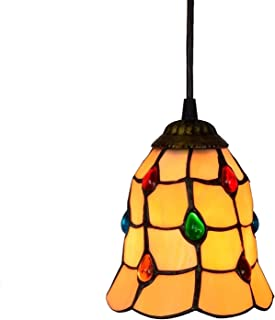 6 inch Phoenix Tail Beads Glass Pendant Light Ceiling Hanging Lamp High Quality