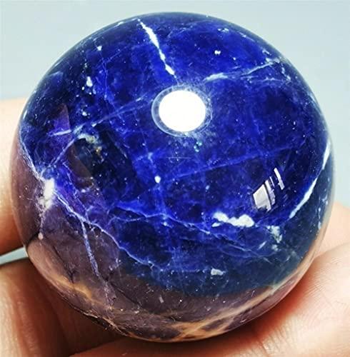 douzu Decoración de Regalo Natural Azul Sodalito Cuarzo Esfera de Cristal Curación de la Pelota de la Pelota de la Piedra de Chakra (Size : 55 60mm)