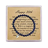 OFGOT7 30th Birthday Gifts for Women Turning 30 – Bead Bracelet with Message Card & Gift Box - Thirtieth