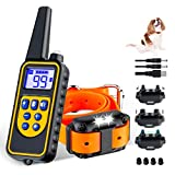 Dog Training Collars, Dog Shock Collar with Remote 880yards, 3 Modes Beep Vibration