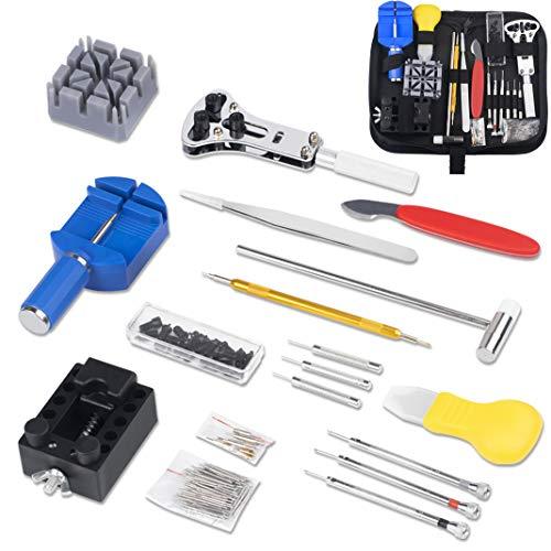 Dioxide 150 PCS Kit Riparazione Orologi, Kit Attrezzi Orologiaio per Fai da te Orologi, Utensili per Orologio Riparazione