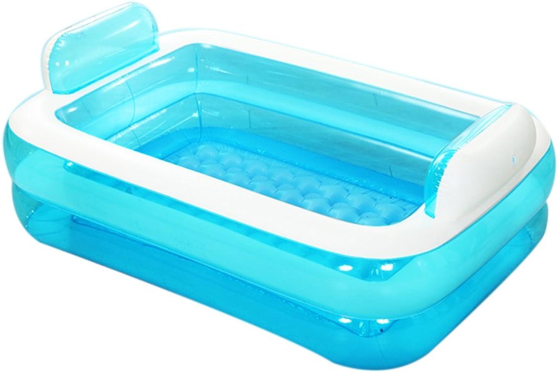 FLYSXP Aufblasbare Familie Pool Infant Planschbecken Groe Badewanne für Erwachsene Aufblasbare Badewanne