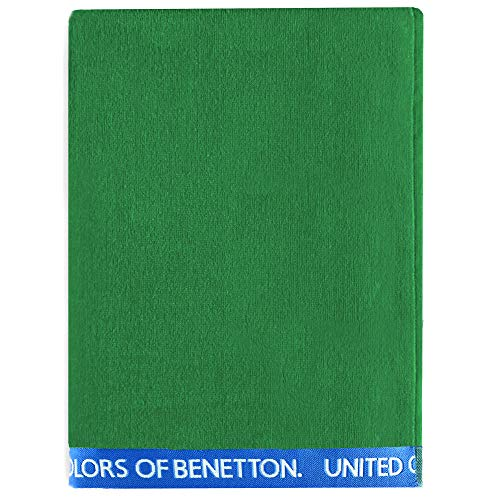 UNITED COLORS OF BENETTON. Toalla de Playa 90x160cm 380gsm Velour 100% algodón Verde Casa Benetton, 90x160