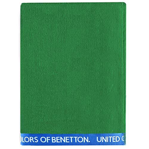 UNITED COLORS OF BENETTON. Toalla de Playa 90x160cm 380gsm Velour 100% algodón Verde Casa Benetton, 90x160