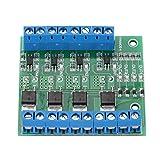 Hilitand MOS FET PWM 3-20V to 3.7-27VDC 10A 4-Channel Driver Module PLC Amplifier Circuit Board