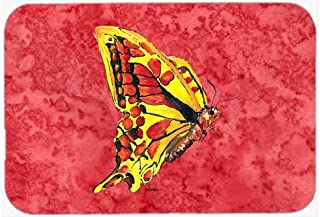 Caroline's Treasures Butterfly on Red Mouse Pad/Hot Pad/Trivet (8862MP)