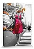 1art1 Marilyn Monroe - New York Walk Cuadro, Lienzo Montado sobre Bastidor (80 x 60cm)
