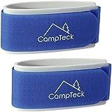CampTeck U6891 - Skis Attaches, Ski Strap, Bande de Ski - 1 Paire (2 Sangles) - Bande de Ski pour Le Transport, Le Voyage et Le Rangement - Bleu