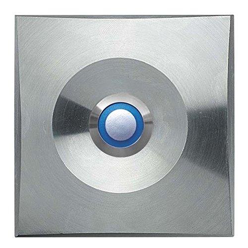 Grothe stapelplaat ETA S 200 LED bl 82x82 mm, roestvrijstalen deurbel 4011459555450