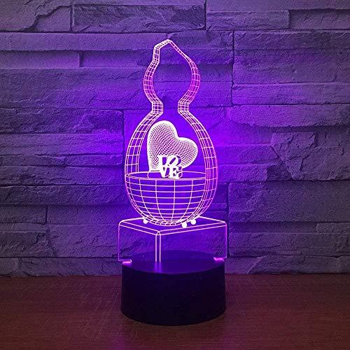 Lindo juego cómico personaje de anime de dibujos animados luz nocturna 3D LED luz mágica 7 cambio de color iluminación USB decoración del hogar gadget regalo único para adolescentes