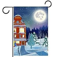 ガーデンフラッグ縦型両面 28x40inch 庭の屋外装飾.クリスマスツリーサンタクロースバッグ