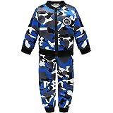 Coralup Conjunto de ropa de invierno para niños pequeños conjuntos de ropa para bebés cálidos trajes de camuflaje para niños pequeños y niñas (3 colores de 12 meses a 5 años)