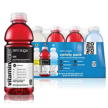 Glaceau Vitamin Water Zero Variety Pack  400 Fluid Ounce  20 Fl Oz  Pack of 20