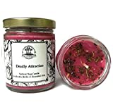 Deadly Attraction 8 oz Soy Herbal Spell Candle for Seduction, Passion, Lust & Attraction Hoodoo Wiccan Pagan Conjure