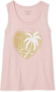 The Children's Place Girls' Graphic Tank Tops