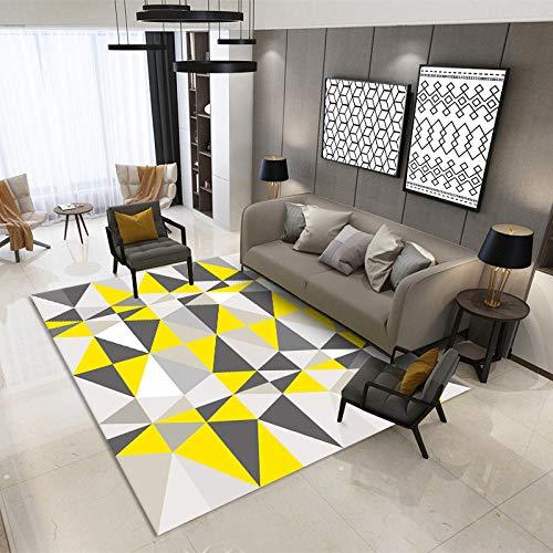 DLSM Teppich mit für die Küche oder Wohnzimmer,Wohnzimmer Casual Geometrische Multicolored-Nähte Gedruckt weicher dekorativer Teppich-80x160 cm.