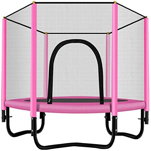 YAOJIA Indoor trampoline Trampoline 60' For Kids,with Safety Enclosure- 5ft Outdoor & Indoor Birthday Gifts For Kids, Baby Toddler Toys(Max. Load 300lbs) (Color : Pink)