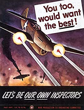 UpCrafts Studio Design American Propaganda Poster WW2 - Size 11.7 x 16.5 - You Too Would Want The Best!- World War 2 Military Art Prints Reproduction - WWII American Militaria Wall Art Decor