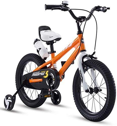 Xiaoyue Fahrräder Mini Kleines Fahrrad Spiele im Freien Reise Sommer Junge und Mädchen-Fahrrad-Kinder-Dreirad (Farbe: Blau, Größe: 12 Zoll) lalay (Color : Orange, Size : 16inches)