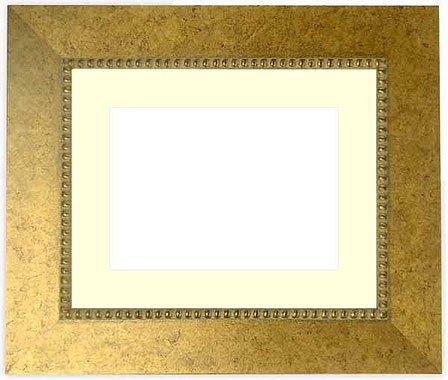 写真用額縁 HQ869/ゴールド写真八つ切(216×165mm) ガラス マット付 マット色:黒