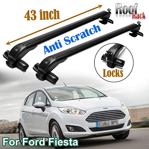 SIKY for Ford Fiesta 2011-16 Aluminium Car Top Roof Rack Cross Bars Lockable Bar Luggage Cargo Carrier Rack(1 Pair)