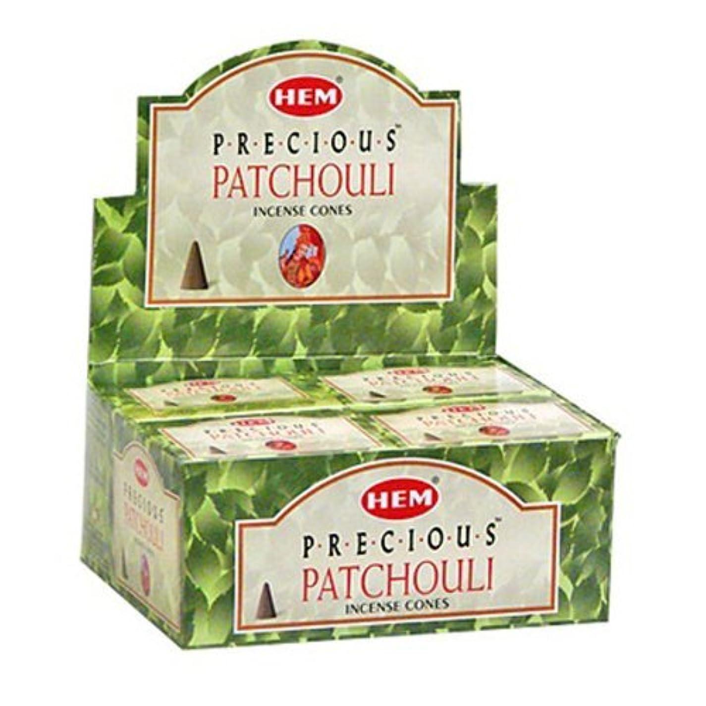 に対応する物理的な異なるHem Preciousパチュリコーンお香?–?4パック、10?Cones 1パック