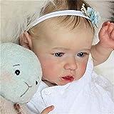 GXLO 23 Pulgadas Saskia Reborn Doll Lifelike Reborn Baby Doll Muñecas Reales de Renacimiento de Vinilo Suave Hechas a Mano para niñas 3 años