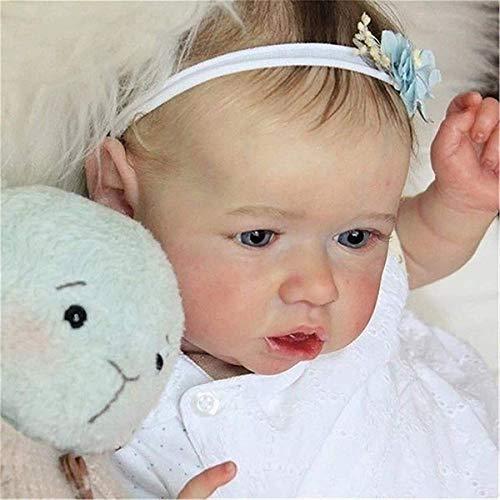 GXLO 23 Zoll Saskia Reborn Puppe lebensechte Reborn Baby Puppe Echtes handgemachtes weiches weiches Vinyl-Baby-Reborn-Puppen Für Mädchen Alter 3