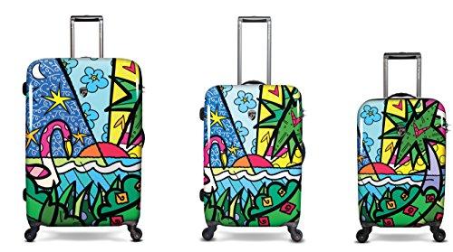 Heys Künstler Britto (317) - Maleta rígida con Ruedas, Palmera (Multicolor) - Reisegepäck, Handgepäck, Kindergepäck