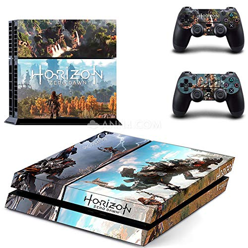 Playstation 4 Skin Set - Horizon Zero Dawn HD Printing Vinyl Skin Cover Protective for PS4 Console and 2 PS4 Controller by Mr Wonderful Skin