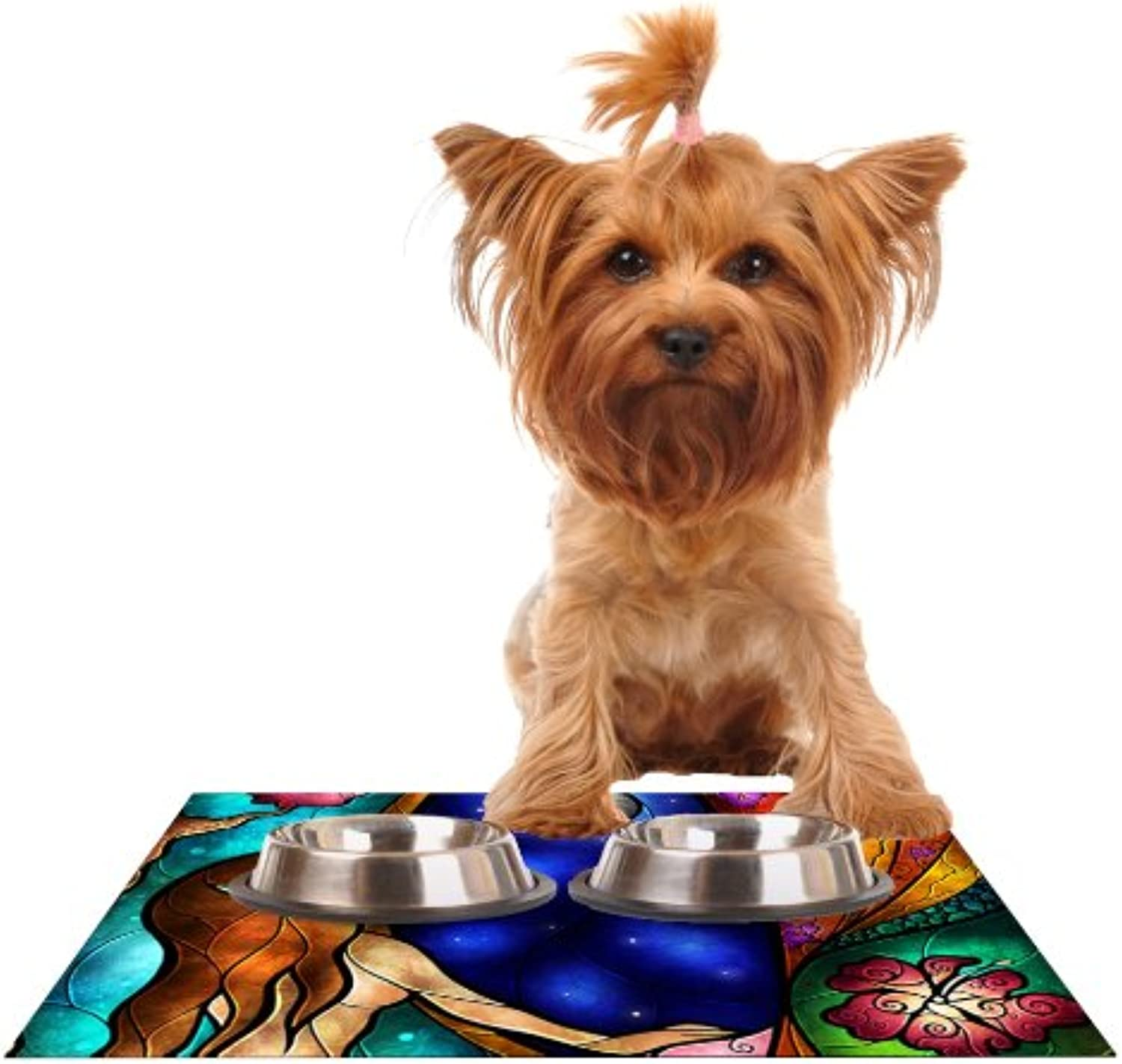 Kess InHouse Mandie Manzano I Miss You  Feeding Mat for Pet Bowl, 18 by 13Inch