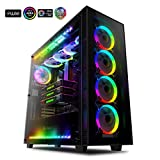 anidees AI Crystal XL RGB V3 Full Tower Tempered Glass,Steel Construction,Water-Cooling Ready PC Case (System not Included), Includes 5 x 120 RGB Fans, 2 x LED Strips - Black AI-CL-XL-AR3 (Case ONLY)